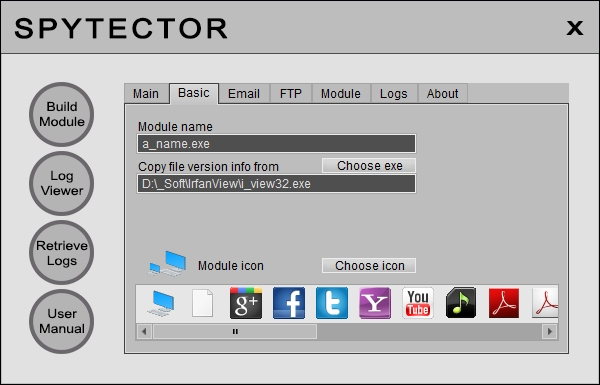 Spytector is the ultimate undetectable spy tool used to track all PC activities.