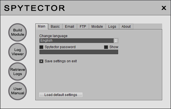 Spytector is the most undetectable keylogger on the market! Windows 8 Compatible good Screen Shot