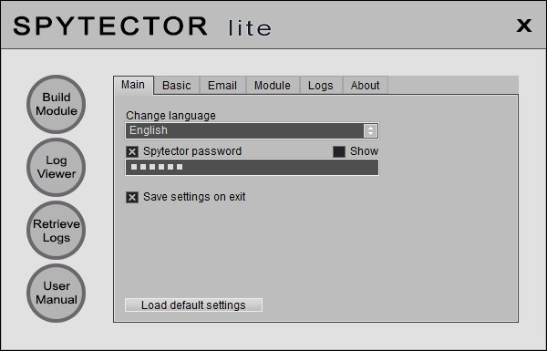 Spytector Lite 2.0.0.0 Screen shot